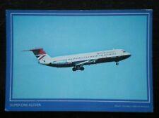 POSTCARD AIR BRITISH AIRWAYS SUPER ONE-ELEVEN AEROPLANE