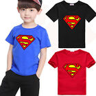 Love Kids Baby Boys Summer Superman Short Sleeve T-shirt Cotton Tops Clothes LXL