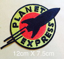 #745 FUTURAMA  PLANET EXPRESs  Ship Crew Logo - Embroidered Iron-On Patch- NEW