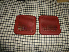 datsun 280zx radio speaker grills covers in red original used great condition