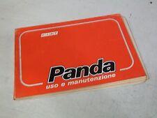 LIBRETTO - MANUALE USO E MANUTENZIONE FIAT PANDA 750 - 1000 - 4X4 - ORIGINALE