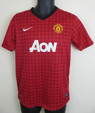Nike Manchester United Football Shirt Soccer Jersey Voetbal Boys 14 13-15 YRS