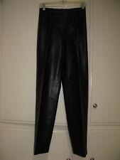 LIZ CLAIBORNE BLACK LAMBSKIN LEATHER PANTS, SIZE 4, EXCELLENT