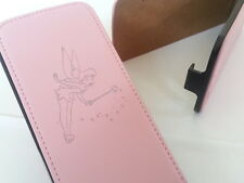 Iphone 4 TINKERBELL GENUINE LEATHER pink flip phone case cover 4s fairy fairies
