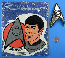 Instant STAINED GLASS & PATCH Star Trek: The Motion Picture vtg '79 Mr. SPOCK