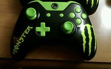 Xbox One wireless controller Custom painted MONSTER theme with jade green LED