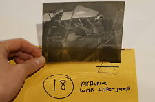 WW2 British Airborne Para Paratroopers w/ Litter Jeep Original Negative #18