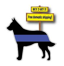 Thin Blue LIne Belgian Malanois K9 Police Dog Decal/Sticker