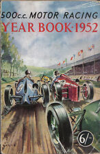 500cc Motor Racing Year Book 1952 Circuits Results Building Specifications FIII