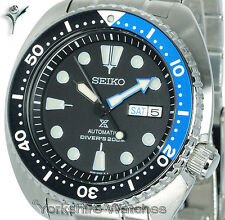 New SEIKO PROSPEX TURTLE DIVER BLACK FACE WITH STAINLESS STEEL BRACELET SRP787K1