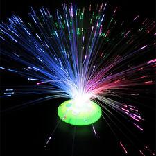 1x LED Farbwechsel Beleuchtung Glasfaser Lampe Fiberglas Licht Leuchte Deko