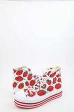 NEW! Converse All Star Strawberry Sneakers Women's Platform Trainers
