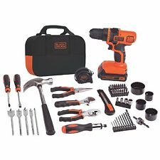 BLACK & DECKER TOOL SET 20-Volt Lithium-Ion Drill 66 Hand Tools and Accessories