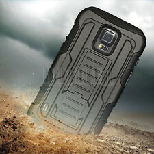 Hybrid Rugged Armor Case Impact Cover Holster For Samsung Galaxy S5 Active G870