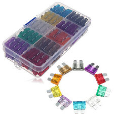 100PCS Blade Fuse Assortment Auto Car Truck Motorcycle Fuses Kit 2A-35A W/ Case