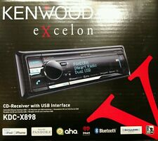 Kenwood Excelon KDC-X898 CD Receiver with USB Interface AUX/BT/SiriusXM