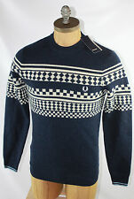 AUTH $191 Fred Perry Men ISland Knit Crew Neck Sweater XS