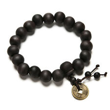 Wood Buddha Buddhist Prayer Beads Tibet Bracelet Mala Bangle Wrist Ornament MWUK