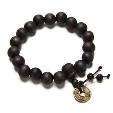 Wood Buddha Buddhist Prayer Beads Tibet Bracelet Mala Bangle  Wrist Ornament UK
