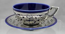 LENOX FOR REED & BARTON SILVER OVERLAY CUP AND SAUCER