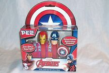 PEZ Avengers Gift Set Iron Man & Captain America Shield MARVEL CIVIL WAR MIB NEW