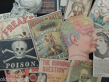 12 PRETTY CREEPY Vintage Advertising DIE CUTS for ALTERED ART | B12 | FREE SHIP
