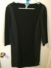 H&M Gray and Black Ponte Shift Dress Large NWOT