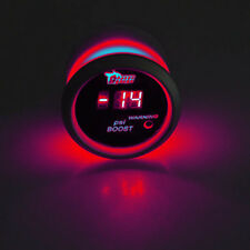 "2"" 52mm Black Car Truck Digital Red LED PSI Turbo Boost LED Gauge Meter Kit"
