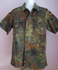 VTG 90s Military GERMAN BDU Army Field Jacket Camo Shortsleeved Size Med (#3G)