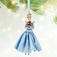 Cinderella with Jaq & Gus Mice Sketchbook Ornament Disney Store 2016 NEW