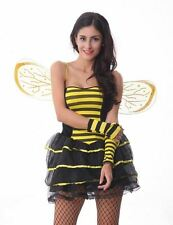 New Halloween Fancy Dress Womens Cute Lady Bumblebee Costume Party Outfit