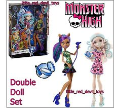 New Monster High DOUBLE DOLL Set VIPERINE GORGON & CLAWDEEN WOLF Scare & Make Up