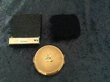 Stratton1960s goldtone faux pearl powder convertible compact original packaging