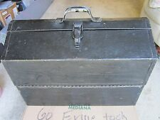 VINTAGE OLD METAL TOOL BOX
