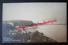 Lake Michigan, White Lake & Old Channel from Pigeon Hill vintage Rppc postcard