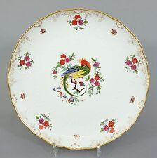 Großer Meissen Zierteller, Neumarseille Relief, Paradies Vogel, D=30,5cm
