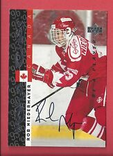 1995-96 Upper Deck Be a Player Autograph #S184 Rob Niedermayer