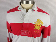 Vintage Jack Wills RFC Rugby Shirt Long Sleeve Mens M Crested Red White Striped