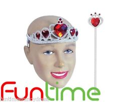 Alice In Wonderland Queen Of Hearts Princess Tiara & Wand Panto Prop Fancy Dress