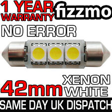ERROR FREE CANBUS 3 SMD LED 42mm 264 C5W XENON WHITE NUMBER PLATE LIGHT BULB