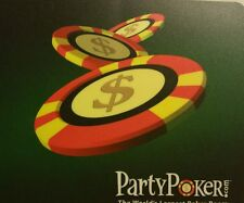 "Poker Chips / Chip Mouse Pad (8""x7.5"") inches by 1/8 thick - Poker $$$ theme"