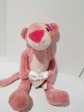 "Pink Panther ""Too Sexy For His Fur"" Heart Valentine 20"" Plush Toy Stuffed Animal"