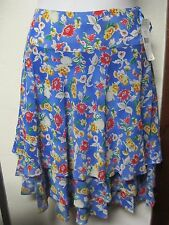 Ralph Lauren Skirt Sz 12 Floral Tier Ruffle Multi Color New NWT $109.00