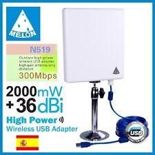 WIFISKY N519,300 Mbps,36dbi antenna Panel WIFI,2000mw,2W,MELON N519,RALINK 3072