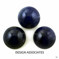 BLUE SAPPHIRE 2.5 MM ROUND CUT CAB BLUE COLOR AAA 6 PC SET