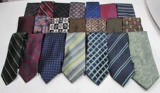 NEW Mens Lot of 3 Name Brand Silk & Other Conservative Style Group Necktie Ties