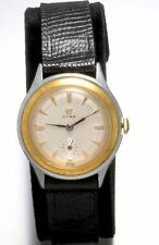Cyma 17-Jewel Lady's Two-Tone Manual Wind Wrist Watch