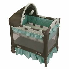 Graco Deluxe Pack N Play Pen Playard Bassinet Travel Lite Blue Winslet NEW NIB