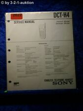Sony Service Manual DCT H4 Cordless Telephone (#2622)