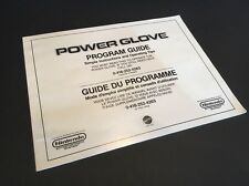 Nintendo Power Glove Program Guide Manual